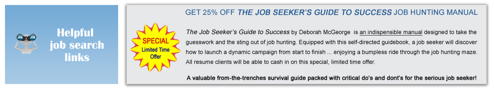 25% off The Job Seeker's Guide to Success for each resume client